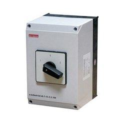 Пакетный переключатель, в корпусе, 3р, 40А (1-0-2) e.industrial.sb.1-0-2.3.40