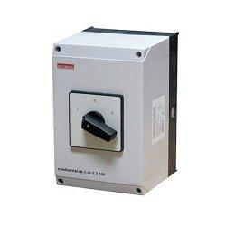 Пакетный переключатель, в корпусе, 3р, 63А (1-0-2) e.industrial.sb.1-0-2.3.63