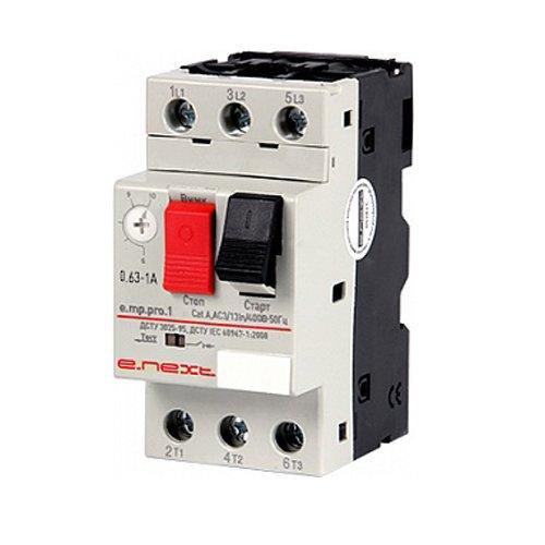 Фото Автоматический выключатель защиты двигателя 0.63-1А e.mp.pro.1 Электробаза