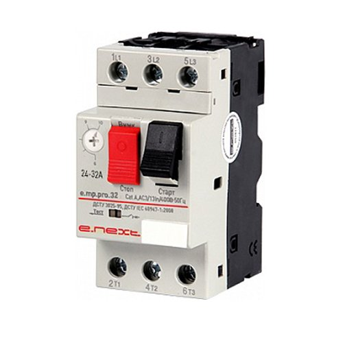 Фото Выключатель для защиты двигателя 24-32А e.mp.pro.32 Электробаза