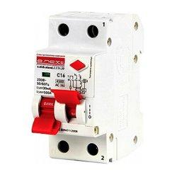 Дифферинциальный автоматический выключатель 2р, 16А, C, 30мА e.elcb.stand.2.C16.30