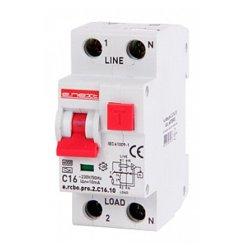 Дифферинциальный автоматический выключатель 1P+N, 16А, С, тип А, 10мА e.rcbo.pro.2.C16.10