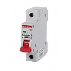 Однополюсный автоматический выключатель 1р, 1А, D, 6кА, e.mcb.pro.60.1.D.1