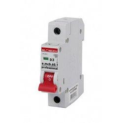 Однополюсный автоматический выключатель 1р, 3А, D, 6кА, e.mcb.pro.60.1.D.3