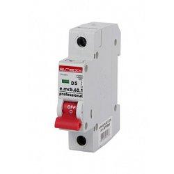 Однополюсный автоматический выключатель 1р, 5А, D, 6кА, e.mcb.pro.60.1.D.5