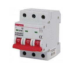 Трёхфазный автоматический выключатель 3р, 10А, D, 6кА, e.mcb.pro.60.3.D.10