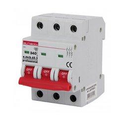 Трёхфазный автоматический выключатель 3р, 40А, D, 6кА, e.mcb.pro.60.3.D.40