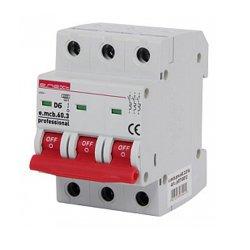 Трёхфазный автоматический выключатель 3р, 6А, D, 6кА, e.mcb.pro.60.3.D.6