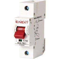 Однополюсный автоматический выключатель, 1р, 50А, C, 15кА e.industrial.mcb.150.1.C50
