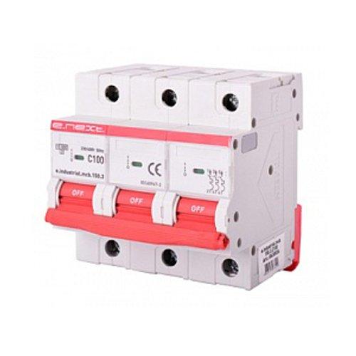 Фото Трёхполюсный автоматический выключатель, 3р, 100A, C, 15кА, e.industrial.mcb.150.3.C100 Электробаза