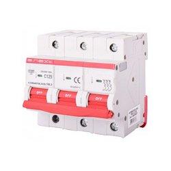 Трёхполюсный автоматический выключатель, 3р, 125А, C, 15кА, e.industrial.mcb.150.3.C125