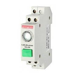 Кнопка на DIN-рейку с индикатором, зелёная, e.pbi.din.green