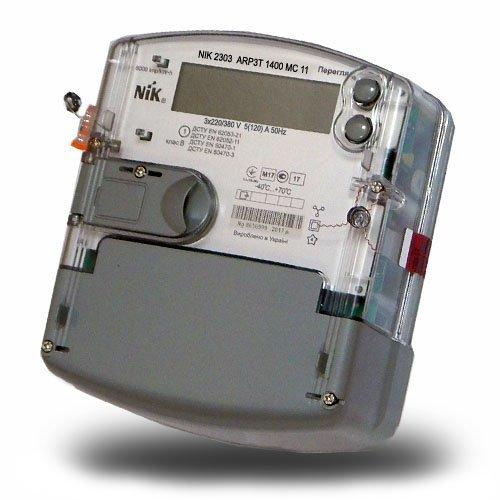 Фото Трёхфазный многотарифный счётчик НИК 2303 АRP3Т 1400 МС 11 3ф (5-120А) 380В Электробаза