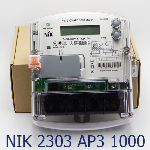 Фото Трёхфазный счётчик НИК 2303 3ф (5-120А) 380В AP3.1000.MC.11 Электробаза