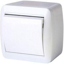 Выключатель света одноклавишный для внешнего монтажа IP44 e.aqua.1111.gr