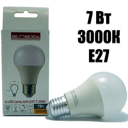 Фото Лампа светодиодная 7Вт 3000К e.LED.lamp.A60.E27.7.3000 Электробаза