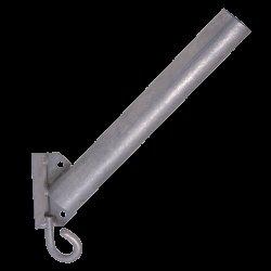 Кронштейн для светильника с крюком (д. 40 мм., длина трубы 350 мм., 45 град) КБЛ-См с крюком