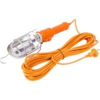 Фото Светильник переносной 5м в комплекте с LED-лампой 10Вт оранж