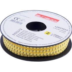 Маркер кабельный, 0-1,5 кв.мм, 2, 1000 шт e.marker.stand.0.1.5.2