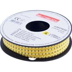 Маркер кабельный, 0-1,5 кв.мм, 4, 1000 шт e.marker.stand.0.1.5.4