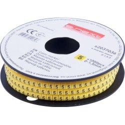 Маркер кабельный, 0-1,5 кв.мм, 5, 1000 шт e.marker.stand.0.1.5.5