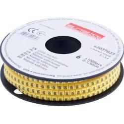 Маркер кабельный, 0-1,5 кв.мм, 6, 1000 шт e.marker.stand.0.1.5.6