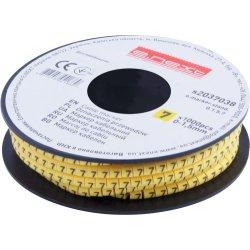 Маркер кабельный, 0-1,5 кв.мм, 7, 1000 шт e.marker.stand.0.1.5.7