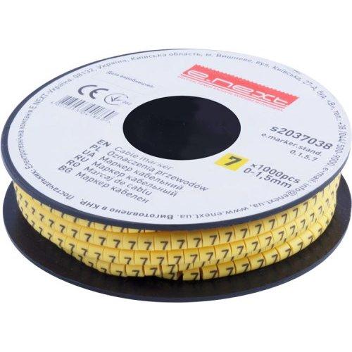 Фото Маркер кабельный, 0-1,5 кв.мм, 7, 1000 шт e.marker.stand.0.1.5.7 Электробаза