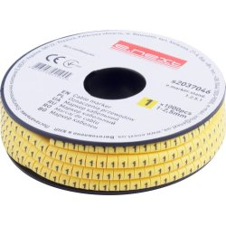 Маркер кабельный, 1-2,5 кв.мм, 1, 1000 шт e.marker.stand.1.2.5.1