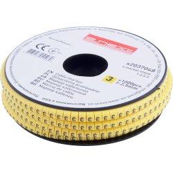 Маркер кабельный, 1-2,5 кв.мм, 3, 1000 шт e.marker.stand.1.2.5.3