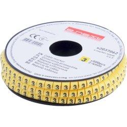 Маркер кабельный, 2-4 кв.мм, 3, 500 шт e.marker.stand.2.4.3