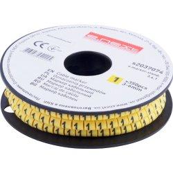 Маркер кабельный, 3-6 кв.мм, 1, 350 шт e.marker.stand.3.6.1