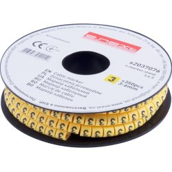 Маркер кабельный, 3-6 кв.мм, 3, 350 шт e.marker.stand.3.6.3