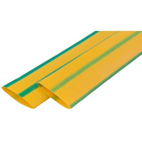 Фото Термоусадочная трубка, 8/4, 1м, желто-зеленая e.termo.stand.8.4.yellow-green Электробаза