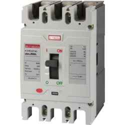 Трехполюсный силовой автоматический выключатель, 3р, 225А e.industrial.ukm.250SL.225