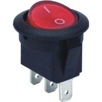 Фото Переключатель клавишный, 3 pin, с индикацией e.switch.key.01