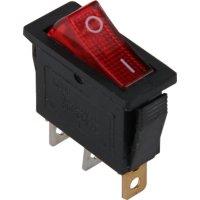 Фото Переключатель клавишный, 3 pin, с индикацией e.switch.key.03