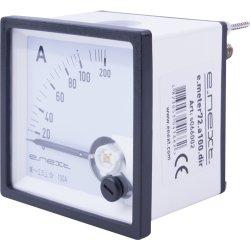 Амперметр щитовой АС 100A  прямое включение 72х72мм e.meter72.a100.dir