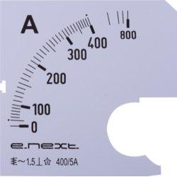 Шкала для щитового амперметра АС 400А 72х72мм e.meter72.a400.scale