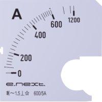 Фото Шкала для щитового амперметра АС 600А 72х72мм e.meter72.a600