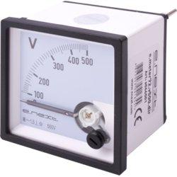 Вольтметр щитовой АС 500В прямое включение 72х72мм e.meter72.v500.dir