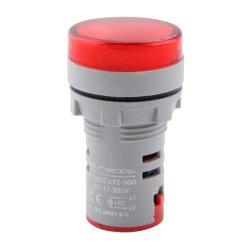 Арматура светосигнальная с индикатором напряжения Ø22мм АС красная e.ad22.i.12-500.red