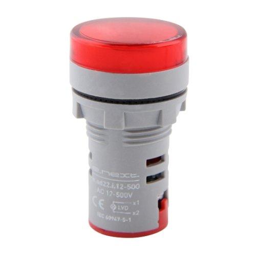 Фото Арматура светосигнальная с индикатором напряжения Ø22мм АС красная e.ad22.i.12-500.red Электробаза