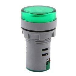 Арматура светосигнальная с индикатором напряжения Ø22мм АС зеленая e.ad22.i.12-500.green