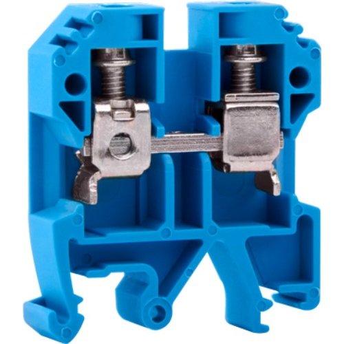 Фото Клеммная колодка наборная на DIN-рейку, синяя, без крышки e.tc.din.pro.10.blue Электробаза