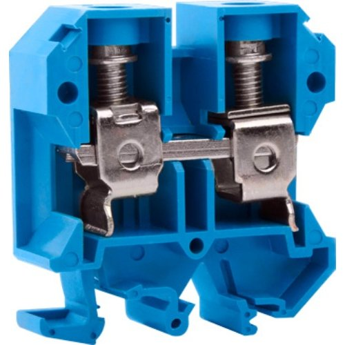 Фото Клеммная колодка наборная на DIN-рейку, синяя, без крышки e.tc.din.pro.35.blue Электробаза