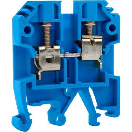 Фото Клеммная колодка наборная на DIN-рейку, синяя, без крышки e.tc.din.pro.4.blue Электробаза