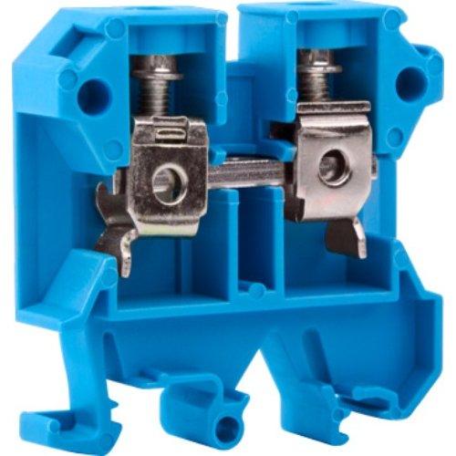 Фото Клеммная колодка наборная на DIN-рейку, синяя, без крышки e.tc.din.pro.6.blue Электробаза
