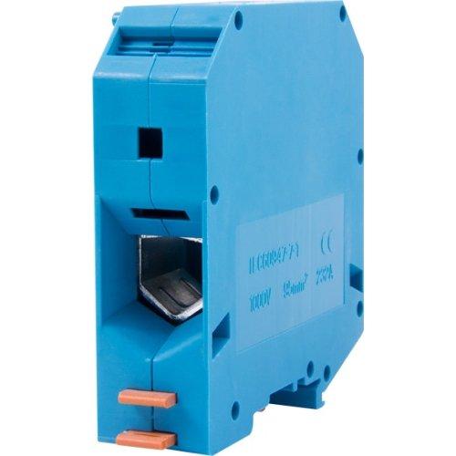 Фото Клеммная колодка наборная на DIN-рейку, синяя, с крышкой e.tc.din.pro.95.blue Электробаза