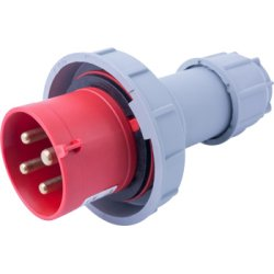 Силовая вилка переносная e.plug.024.32.67, 4п., 400В, 32А, IP 67